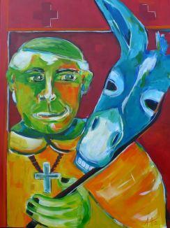 Die die Maske, 60 x80 cm, ©Anja Hühn 2012