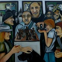 Die Ausstellung (unverkäuflich), 100 x 100 cm, © Anja Hühn 2016