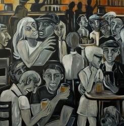 Feierabend (unverkäuflich), 100 x 100 cm, © Anja Hühn 2015