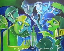 GedankenVoll, 100 x 80 cm, ©Anja Hühn 2012