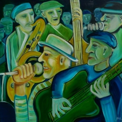 """""""Jazz"""", 80 x 80 cm, © Anja Hühn 2015"""