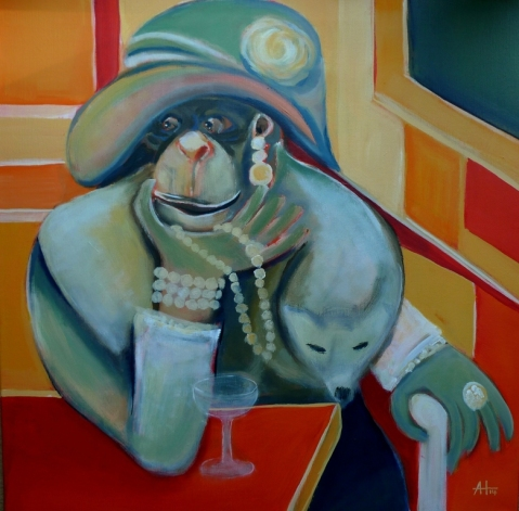 Lady Maud (sold), 60 x 60 cm, © Anja Hühn 2014