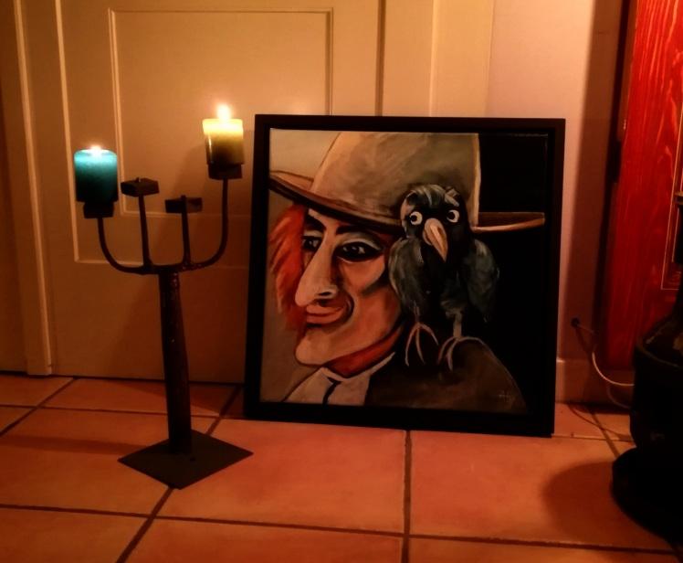 Landstreicher im Kerzenschein