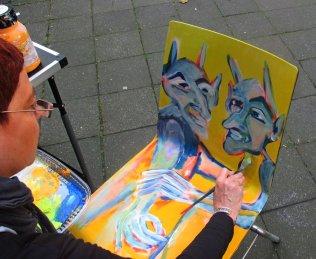 Projekt KUNSTSTUHL - Kunstmüllerei - Stuhl gestaltet von Anja Hühn