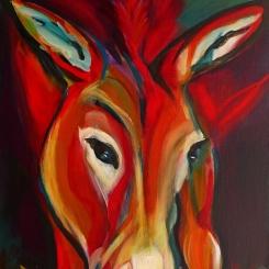 ZORA - Acryl auf LW, 42 x 56 cm - © Anja Hühn 2020